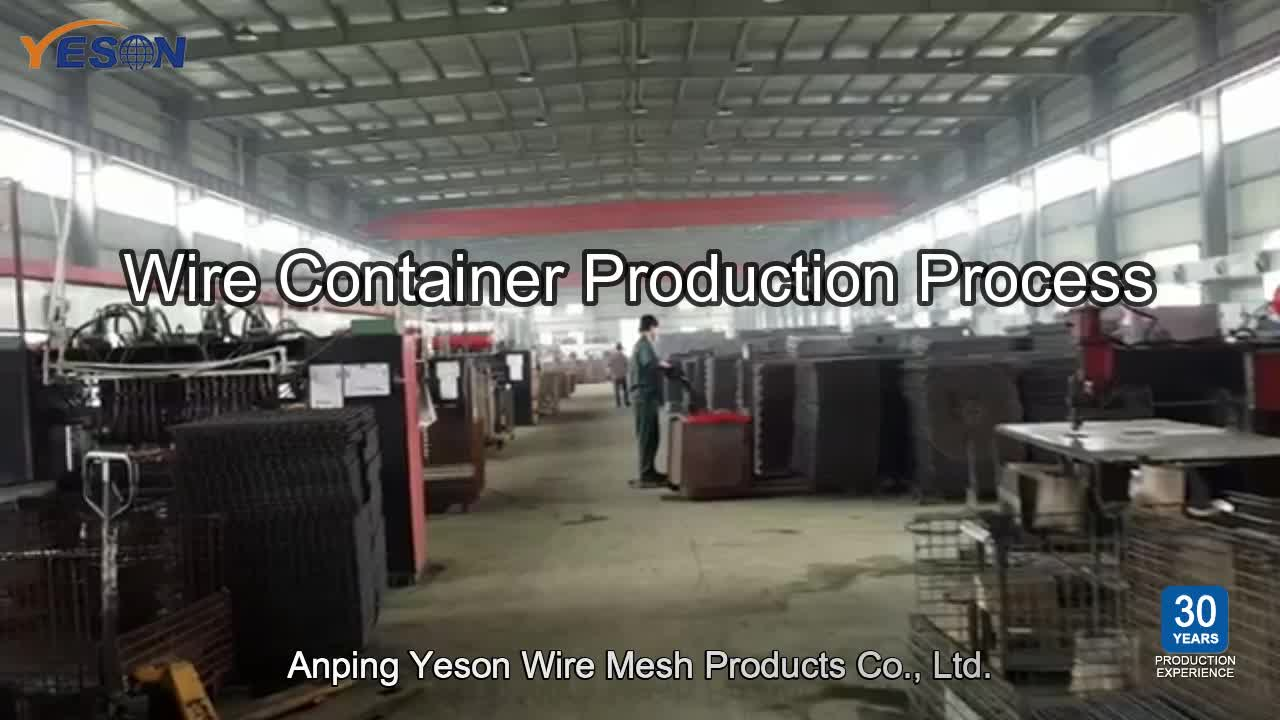 YESON 강 케이지 wire mesh container used 대 한 wine 병 storage euro pallet 케이지