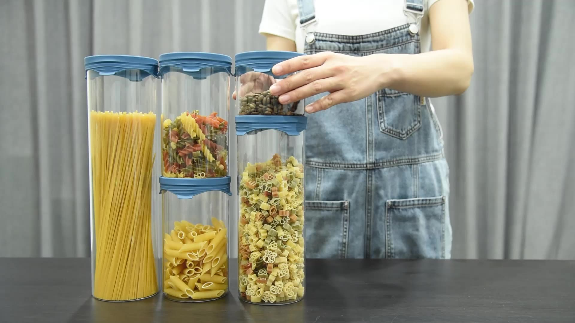 Airtight food storage fancy glass jars storage jar grain container food container