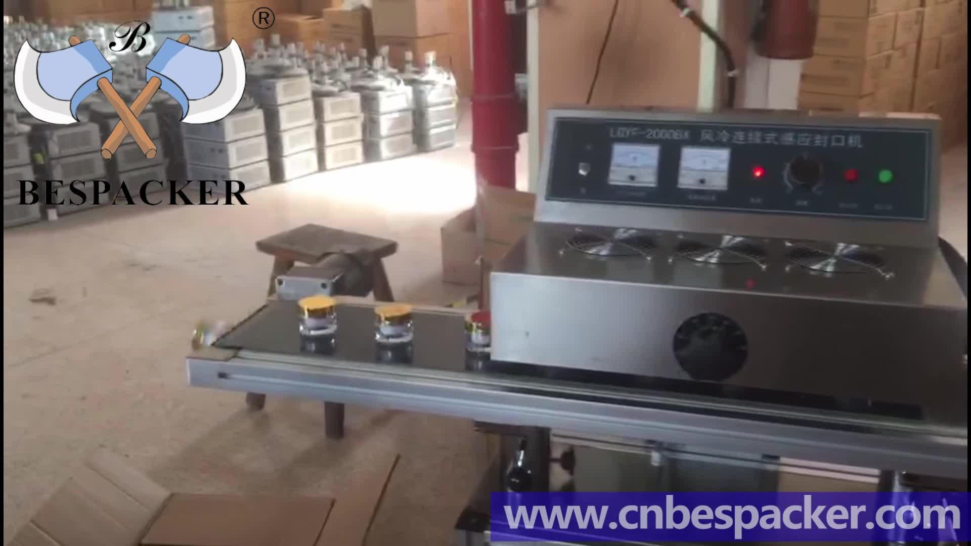 automatic continuous induction bottle sealer LGYF-1500A