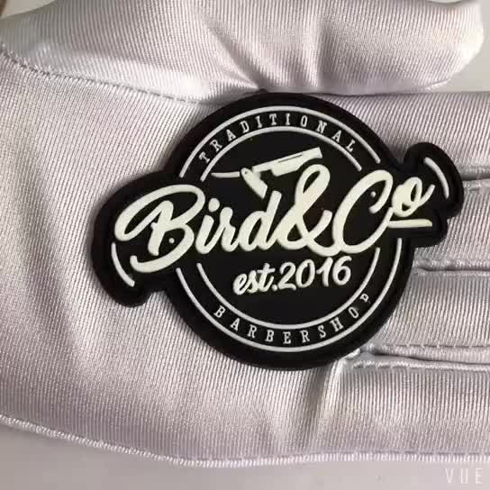 Rectangle pvc 3d embossed patch logo silicone soft rubbel label for jacket