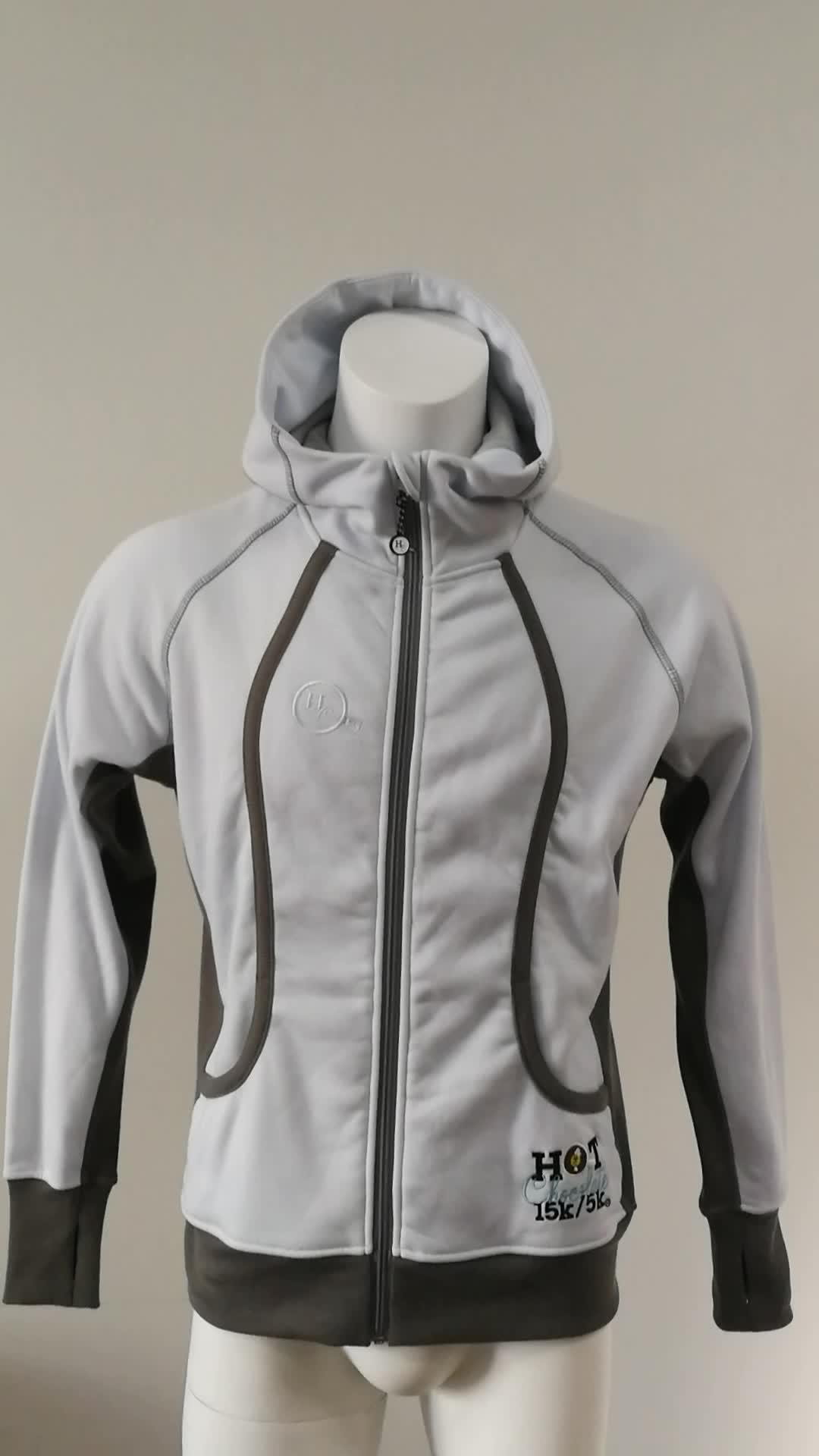 Anti-static customized size custom running jacket for mens