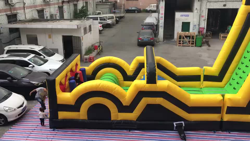 Large outdoor bouncy casle adult inflatable obstacle course for sale