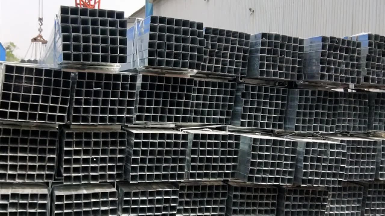 pre galvanized square steel tube tubing sizes
