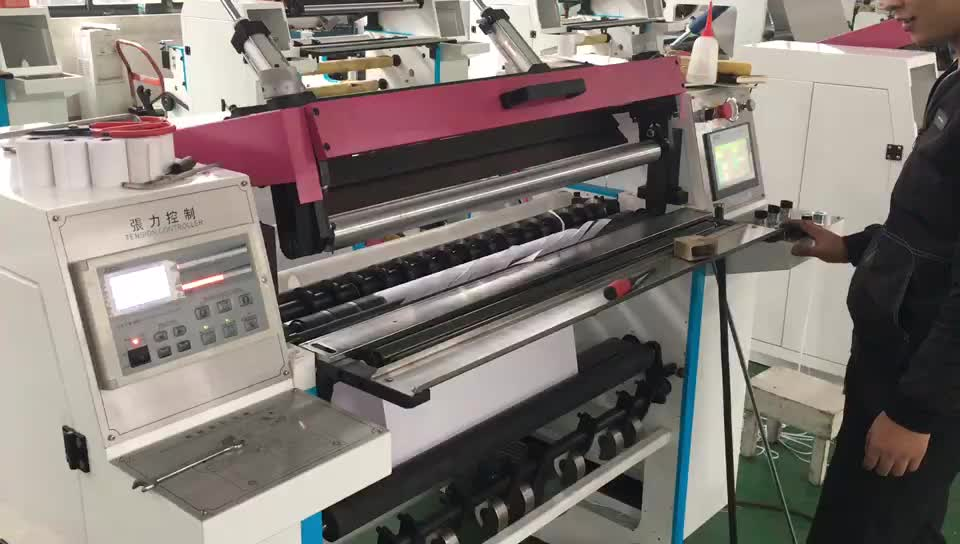 Computerized Thermal POS Receipt Paper Roll Slitting Rewinding Machine