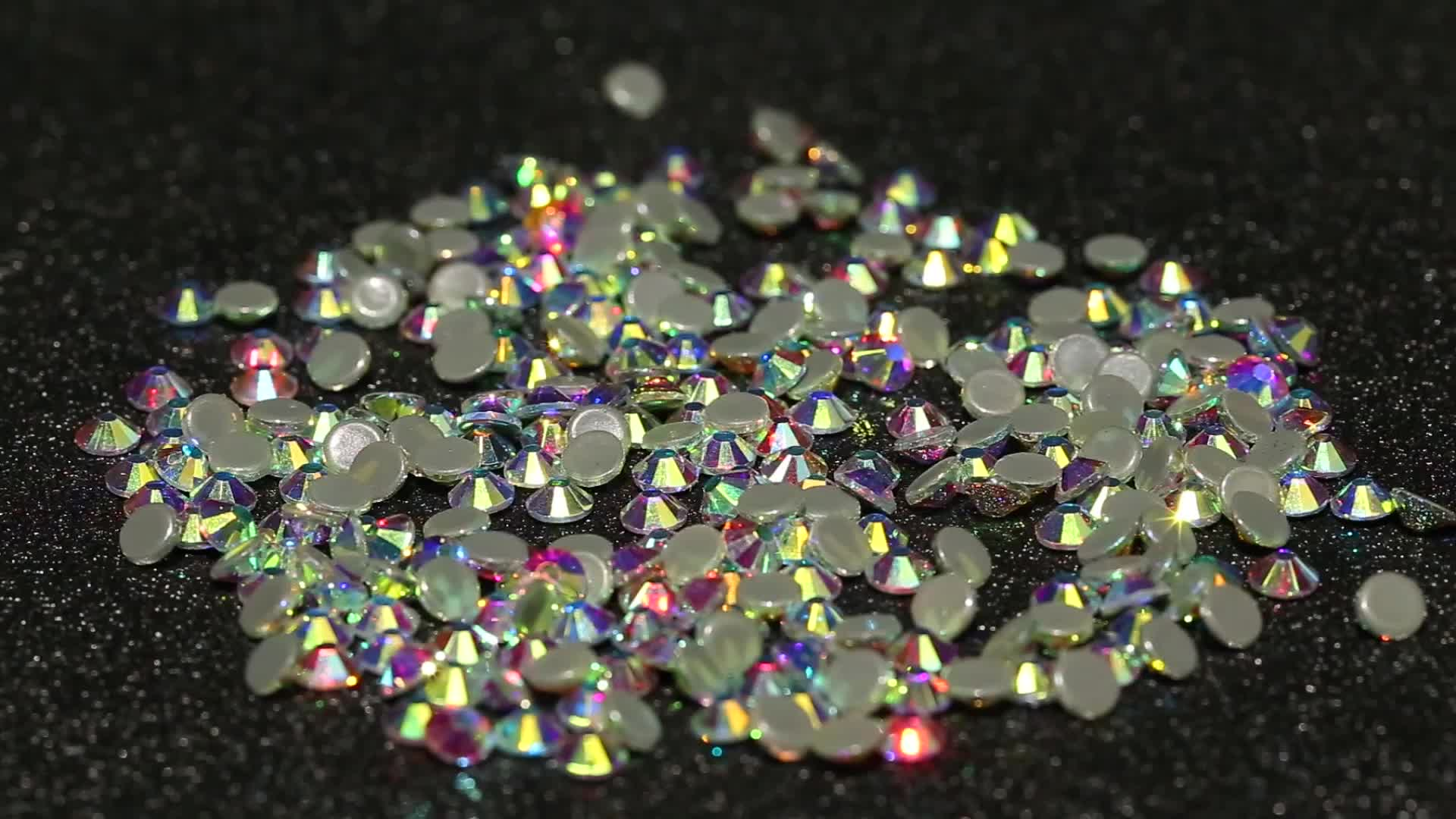 Manufacturer top quality shiny crystal AB color hot fix rhinestones flatback with strong glue back