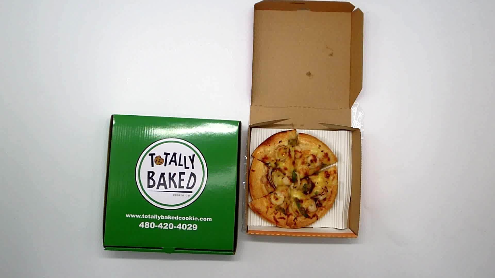 Hoge Kwaliteit Goedkope Golfkarton Papier Verpakking Pizzadoos