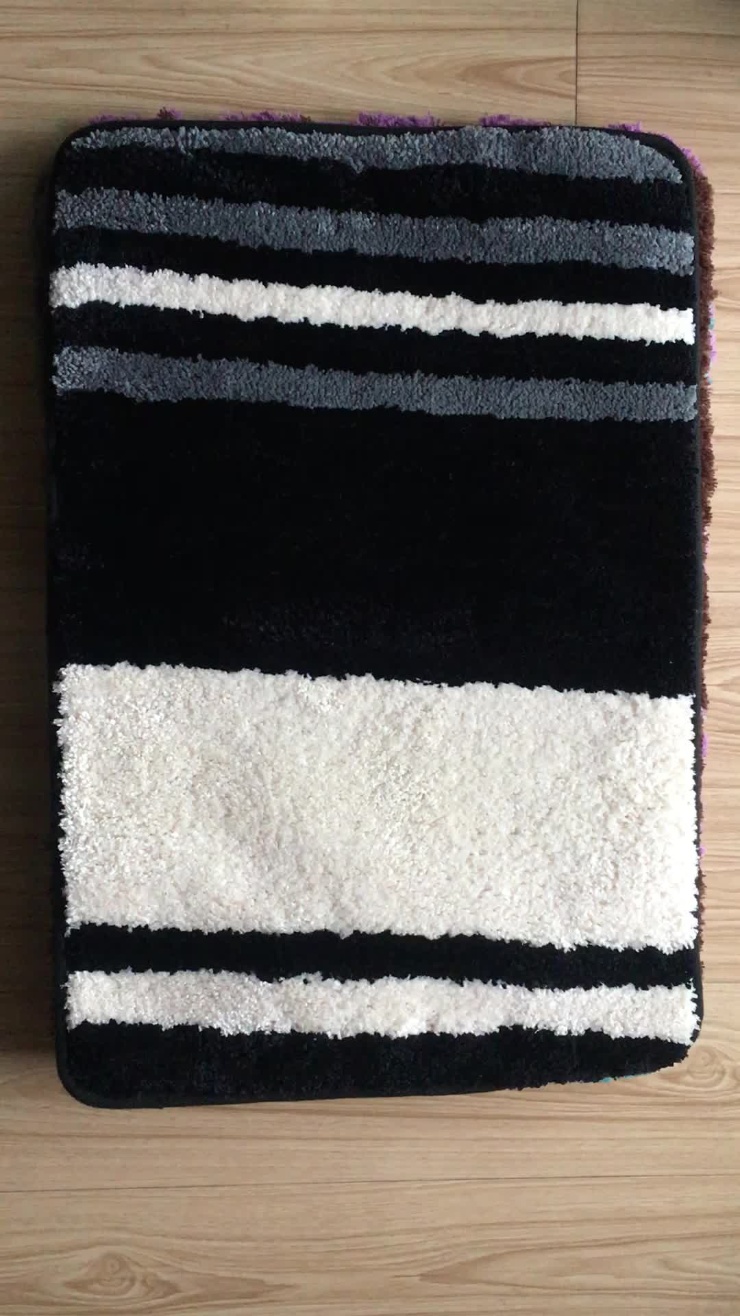 100% polyester washable bathroom carpet tile