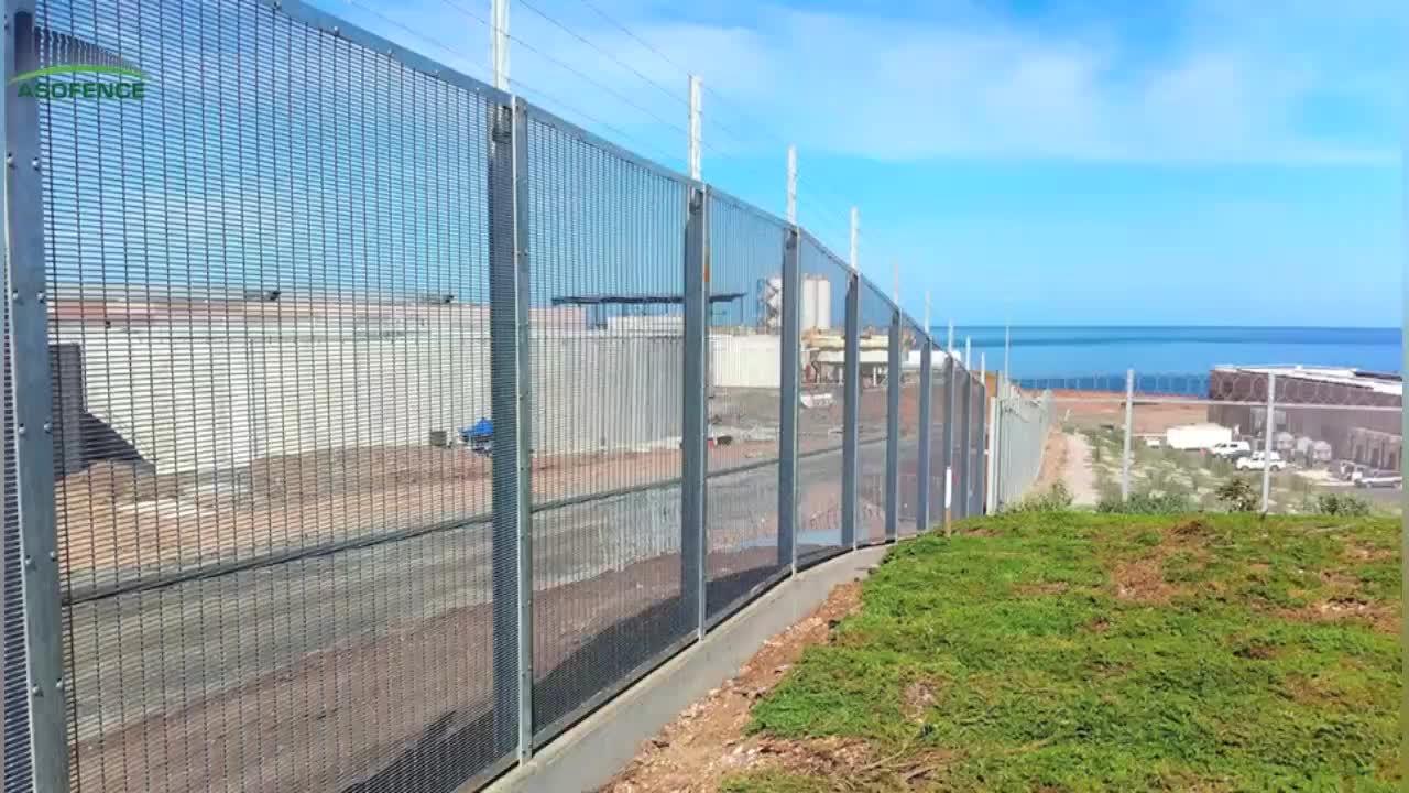 Clearvu spike topping luchthaven hek gebruikt voor vele soorten hek project service