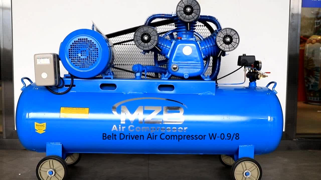MZB 200L 250L 300L 500L 7.5KW 10HP बेल्ट संचालित हवा कंप्रेसर