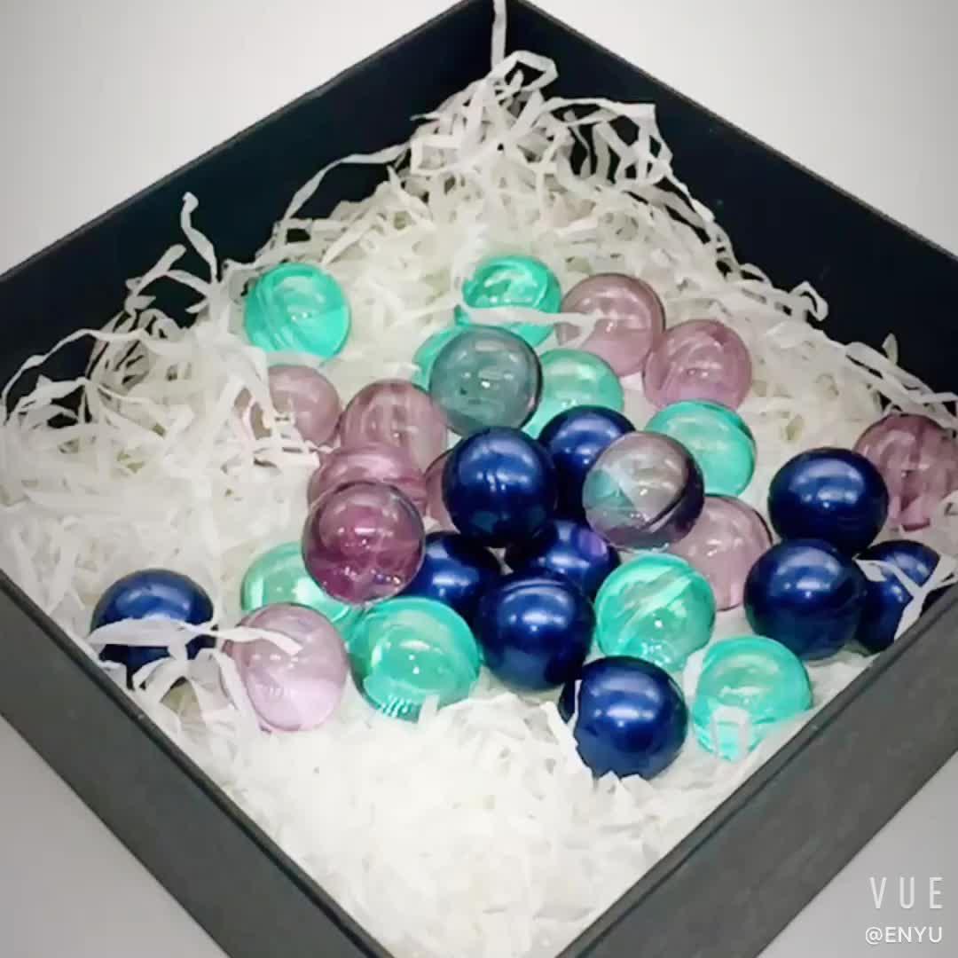 Metallic Blue Bath Oil Beads Bath Pearls Mint Scent