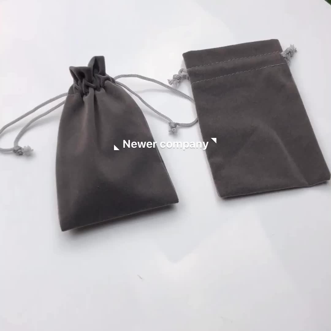 Großhandel werbe geschenke hochzeit armband luxus wildleder klappe kordelzug individuell bedruckte samt schmuck beutel