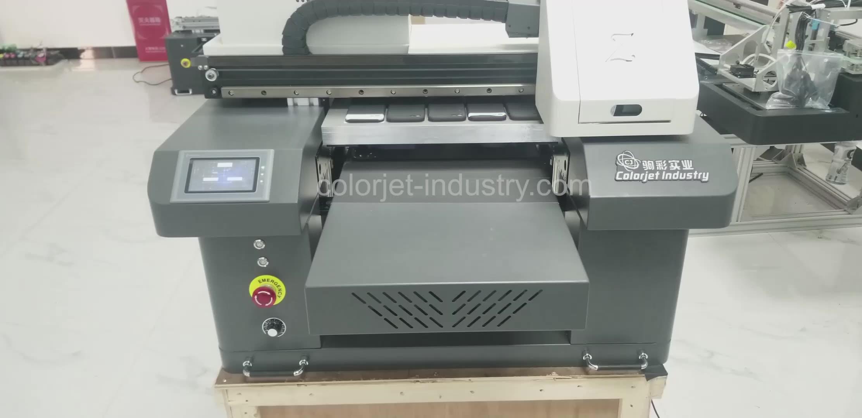 Cj Fabriek Hoge Snelheid A2 Uv Printer Met 3 Heads Voor Telefoon Case Glazen Fles Mok Uv Drukmachine