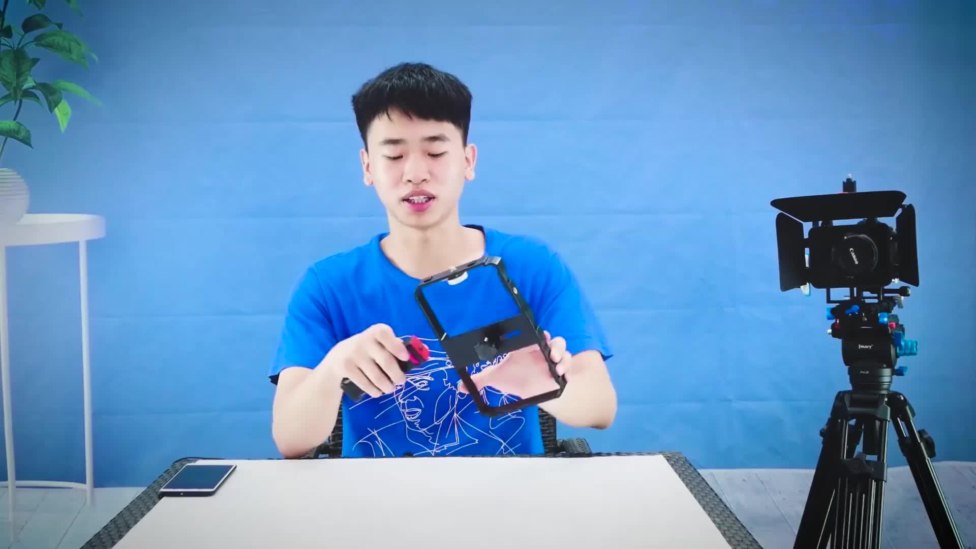 YELANGU PC02 Akıllı Telefon Kamera Video Rig Kiti Telefon Kafesi Sıcak Ayakkabı Sapı