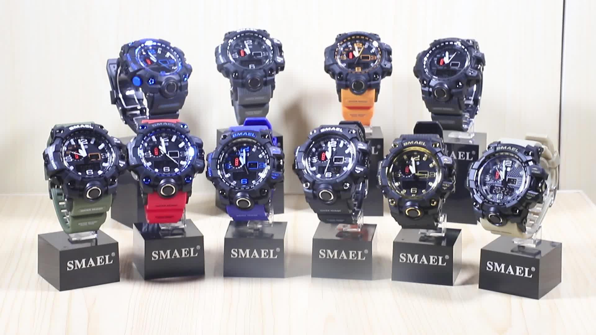 SMAEL ผู้ผลิตออนไลน์ขายส่ง 1545 กลางแจ้งกันน้ำ dual time mens กีฬานาฬิกา