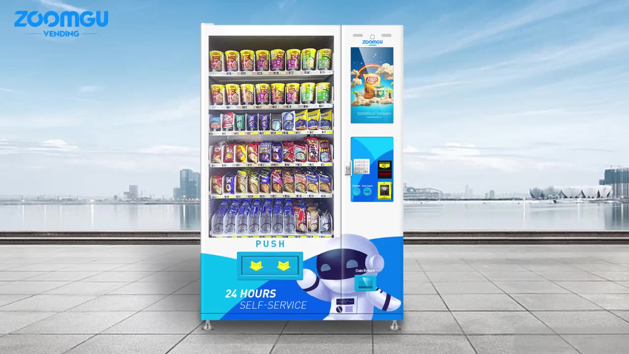 Zoomgu Oem Odm Touch Snacks Kleinen Bildschirm Automaten Mit Gsm Control