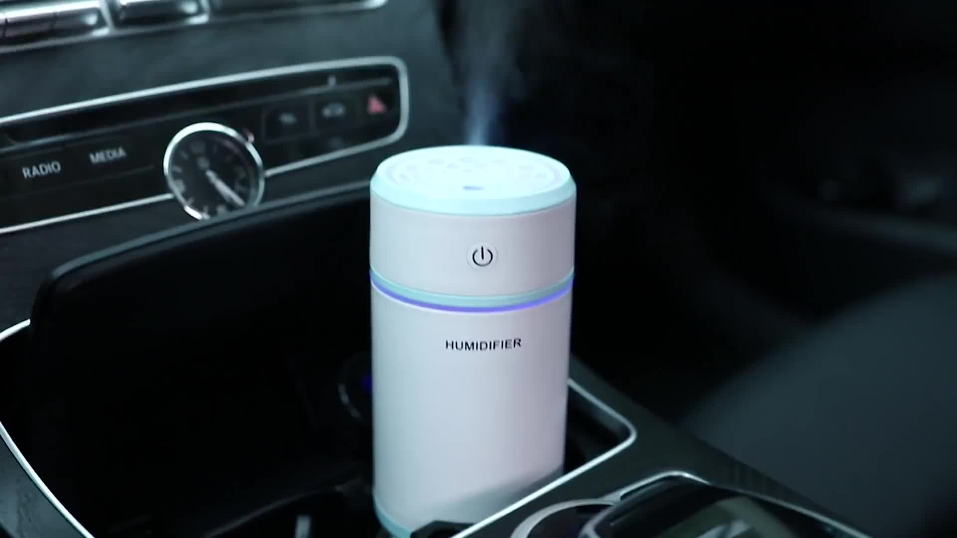 Hot Sale Cool Colorful Light Usb Mini Telescope Portable Humidifier /aroma Diffuser For Travel