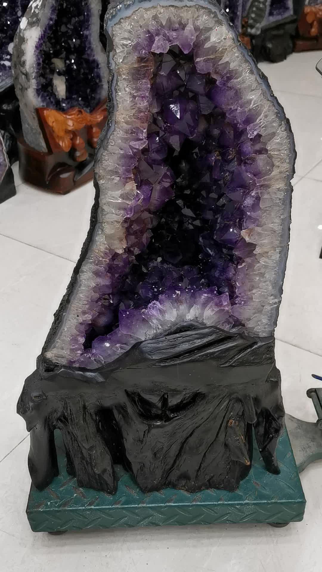 Grappes de cristal d'améthyste naturel, gode en cristal pour la décoration
