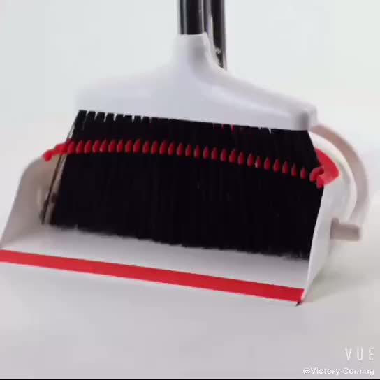 Broom and Dustpan Set,Grips Sweep Set and Lobby Broom Combo Upright Grips Sweep Set