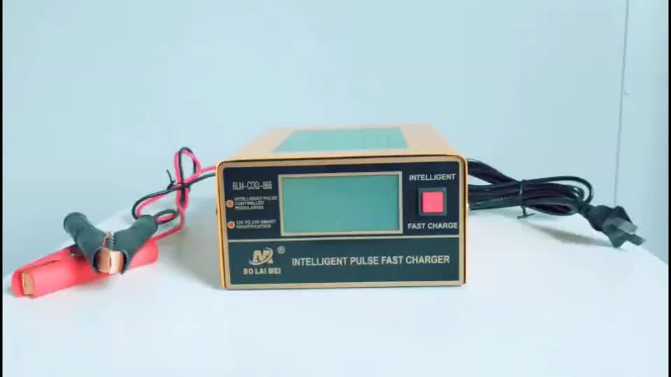 Portátil Universal automático de plomo ácido inteligente UPS estándar de la batería 12V 24V cargador de batería de coche