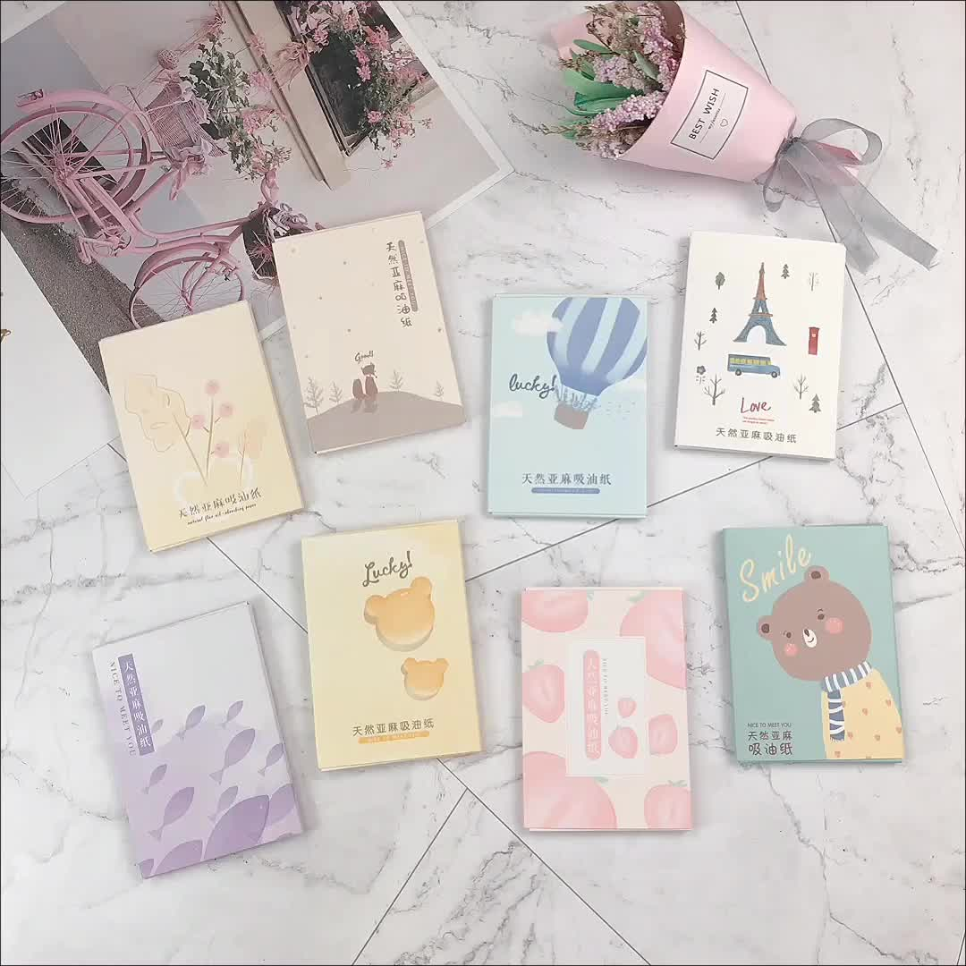 Personal Facial Tissue Absorbent Absorbing with Logo Printed Oil Blotting Paper