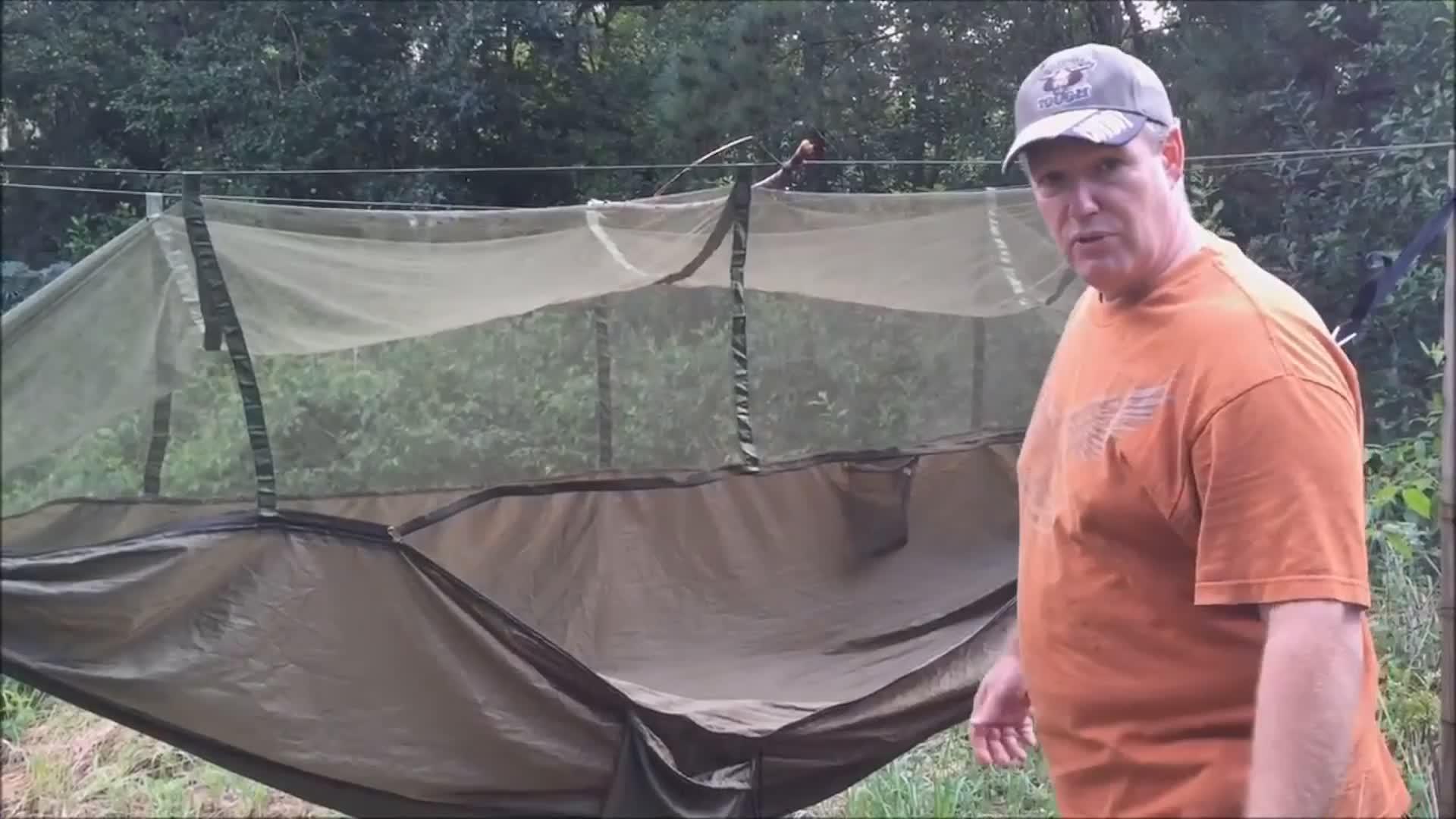Custom wholesale Ultralight Outdoor Camping Hunting Mosquito Net Parachute Hammock 2 Person Garden Hanging Bed Leisure Hammock