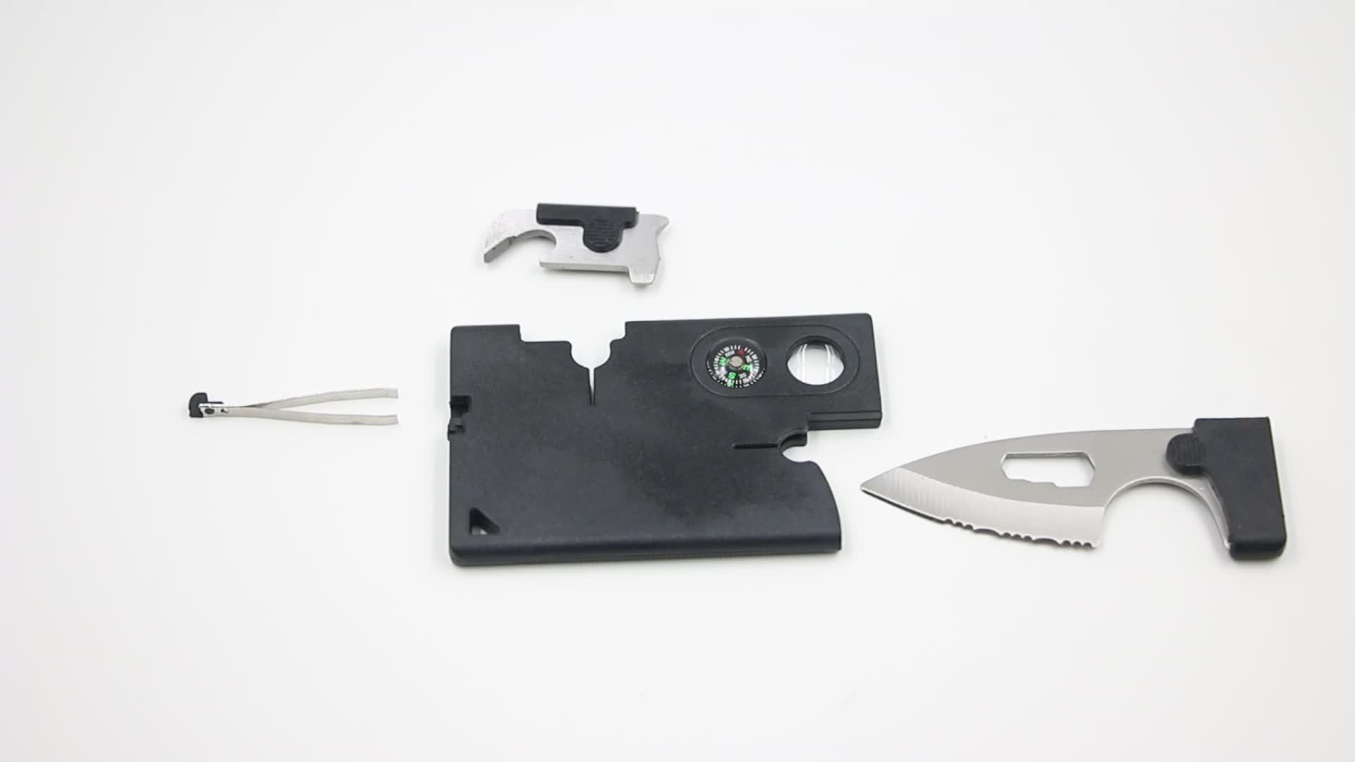 Cmart nero caldo di sicurezza della lama di tasca della carta del raccoglitore mini carta di credito coltello/lama di carta di credito