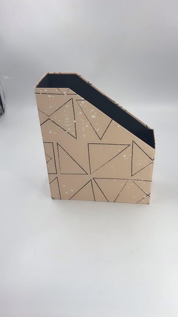 การออกแบบที่กำหนดเองกระดาษกล่องสำหรับโต๊ะกระดาษแข็งสำนักงานแฟ้มเก็บกล่อง