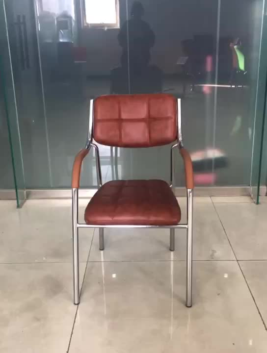 Simple Design Popular Modern Appearance Thickened Seat Armrest Visitor Chair