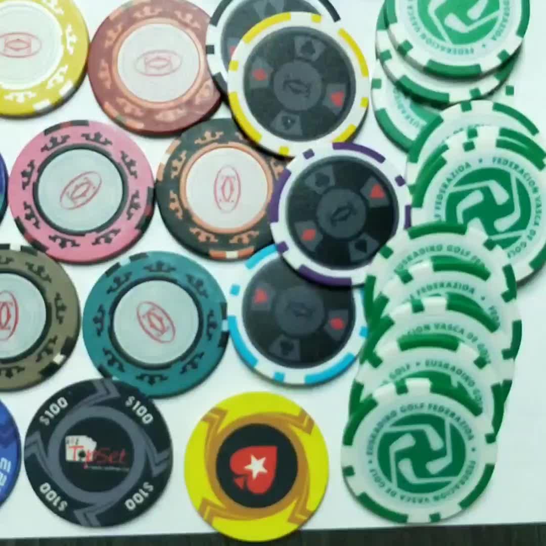 40 millimetri di Diamante Personalizzato Texas Hold Poker Mahjong Scacchi di Plastica Carta di Argilla Poker chip