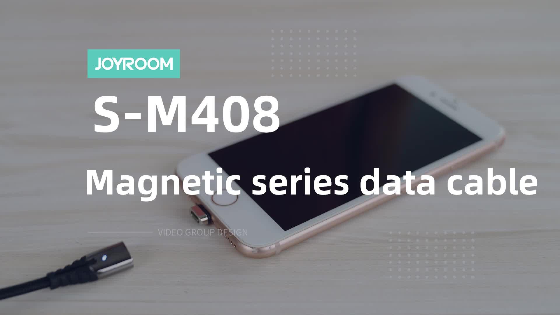 Joyroom led 3 in 1 magnetische gevlochten usb c opladen snel opladen kabel micro data usb magnetic kabel