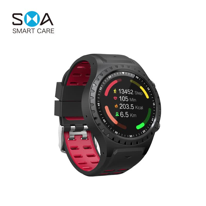 New Built-in GPS Compass Bluetooth Support SIM Card Sport Smart Watch For IOS Android Phone With Heart Rate Monitor