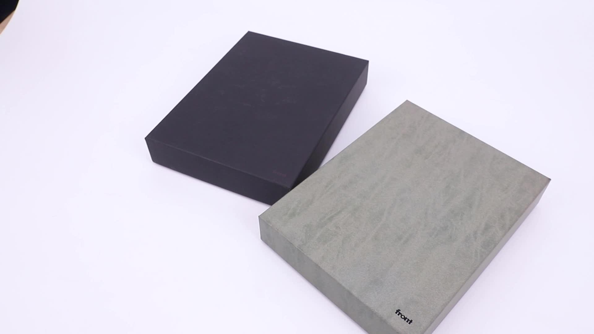 Black journal custom printed hard cover travel grid usadas paper notebook set with powerbank