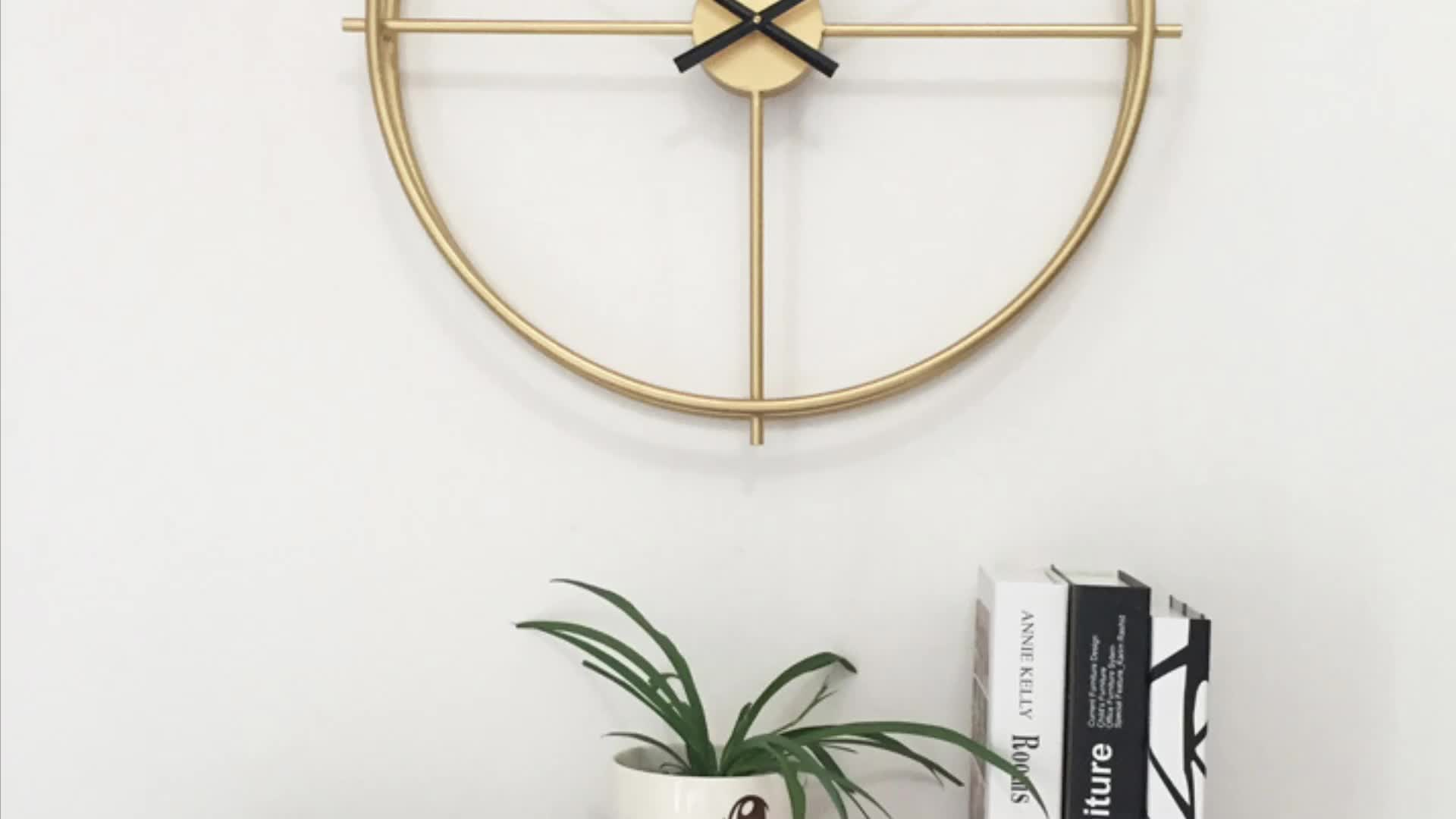 Oversized American Vintage Retro Rustic Handicraft Modern Home Decor Metal Wall Clock With Large Hands Sweep Mechanism Buy Farmhouse Home Decor Wall