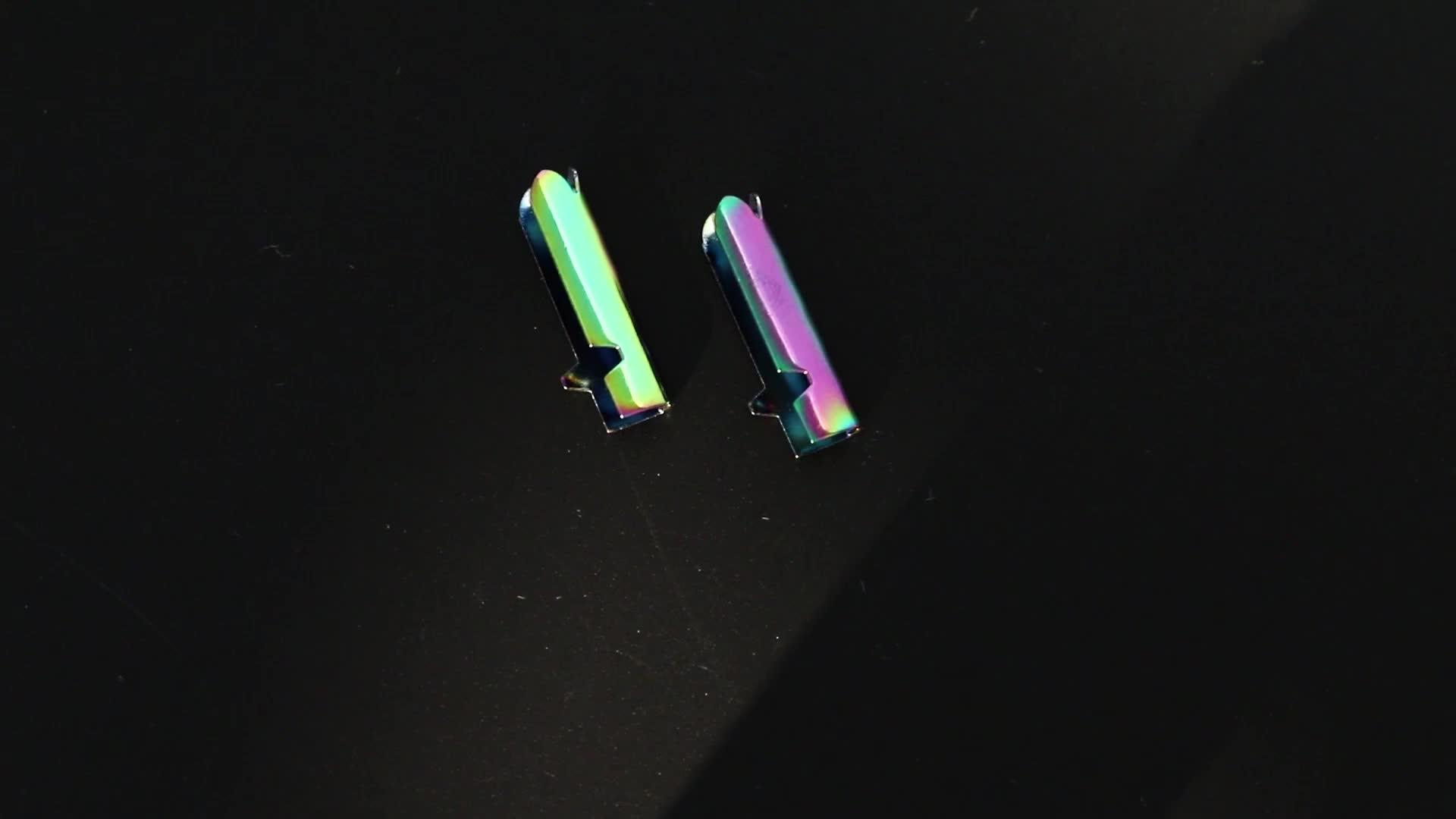 مخصص متعدد الألوان ماتي المطاط/لامعة رسمت نهاية سلك من المعدن نصائح للسلاسل