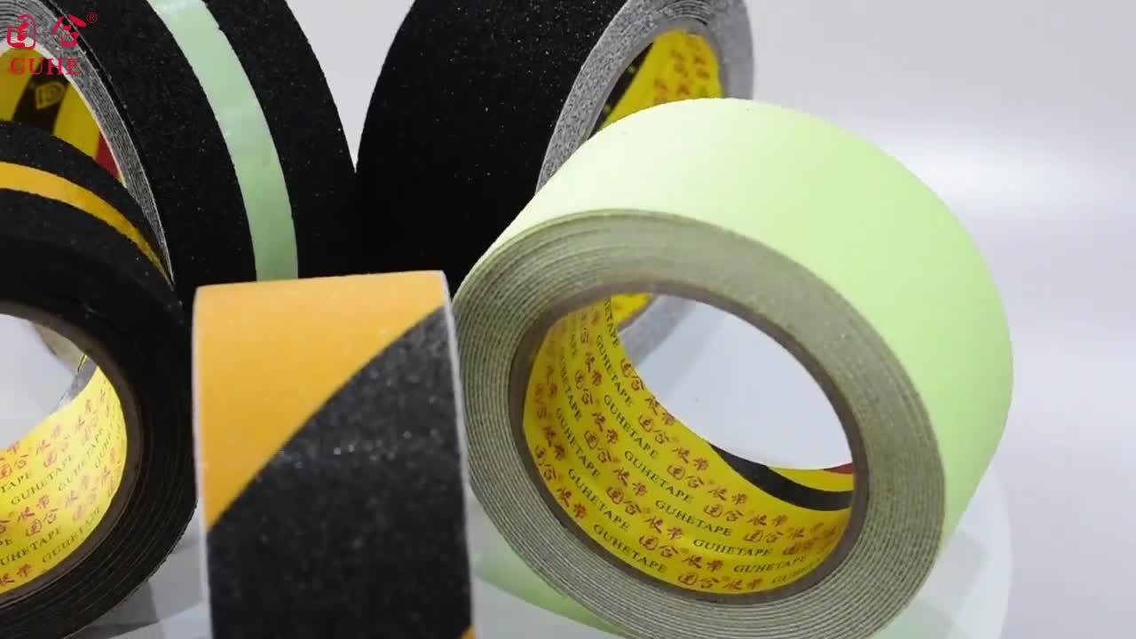Luminoso antideslizante cinta de seguridad de la decoración del hogar de advertencia no-Cinta luminiscente película escaleras cinta de advertencia