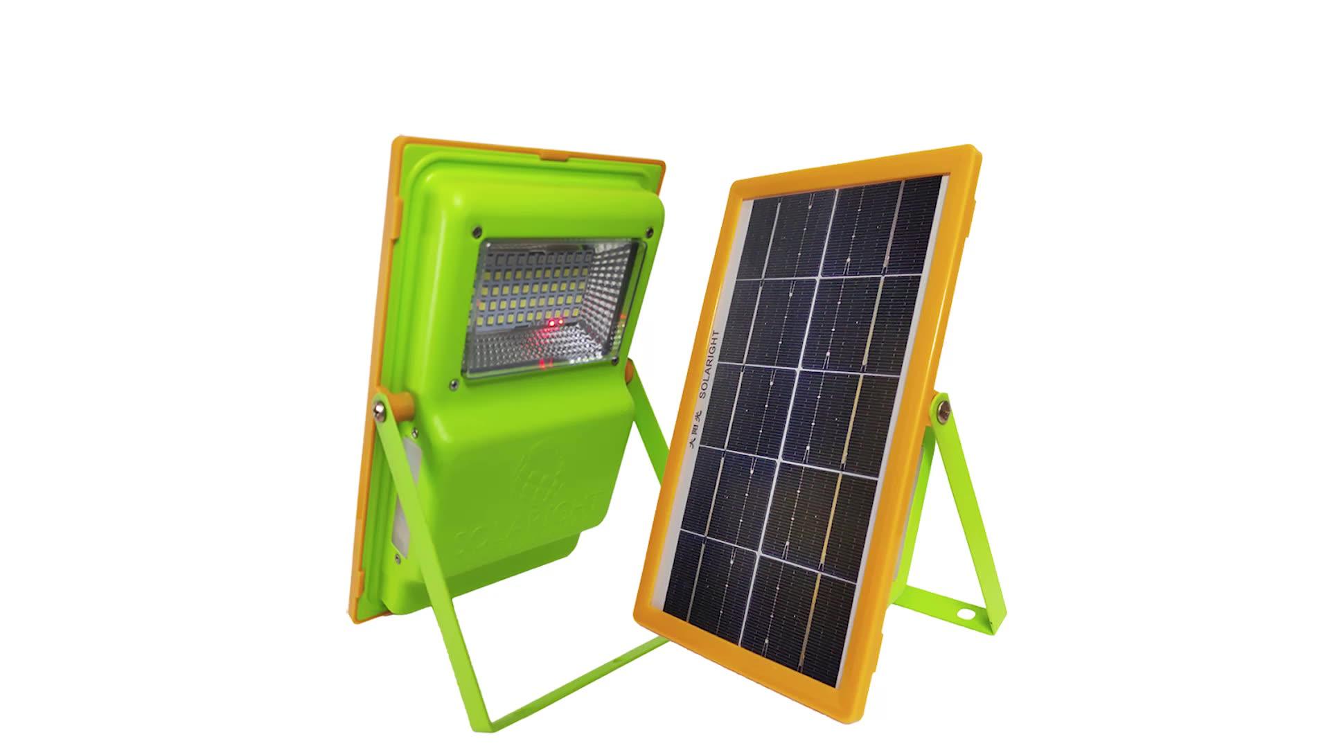 Portable charger  5v 6w mono crystalline panel 10000mah power bank solar camping light