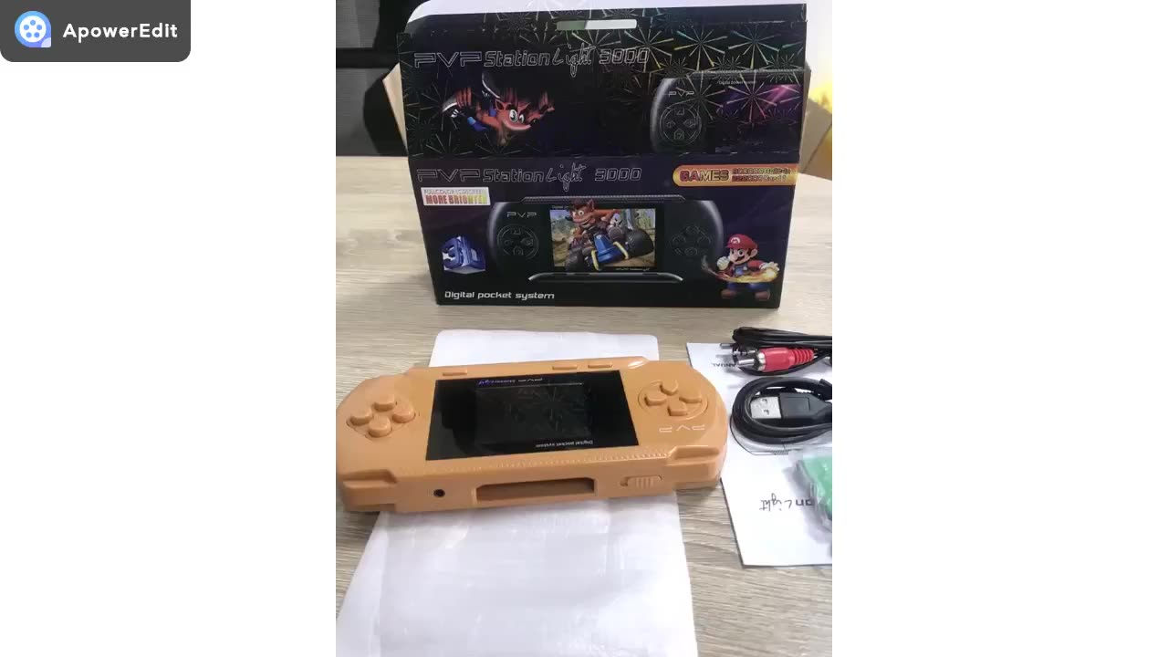 8 Bit  PVP Game Cartridge 3.0 Inch With  TFT Color Screen TV Connect  Handheld Game Player For  Retro Classic Game Console