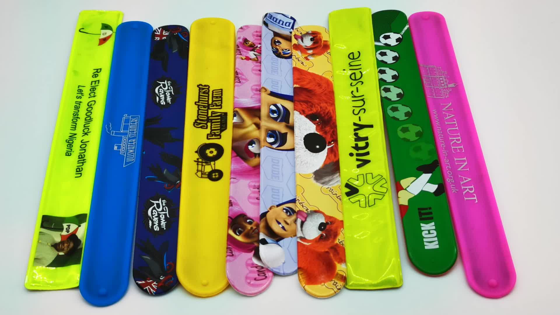Promotion Cheap Custom Made DIY Colourful Long Silicone Slap Band Bracelet