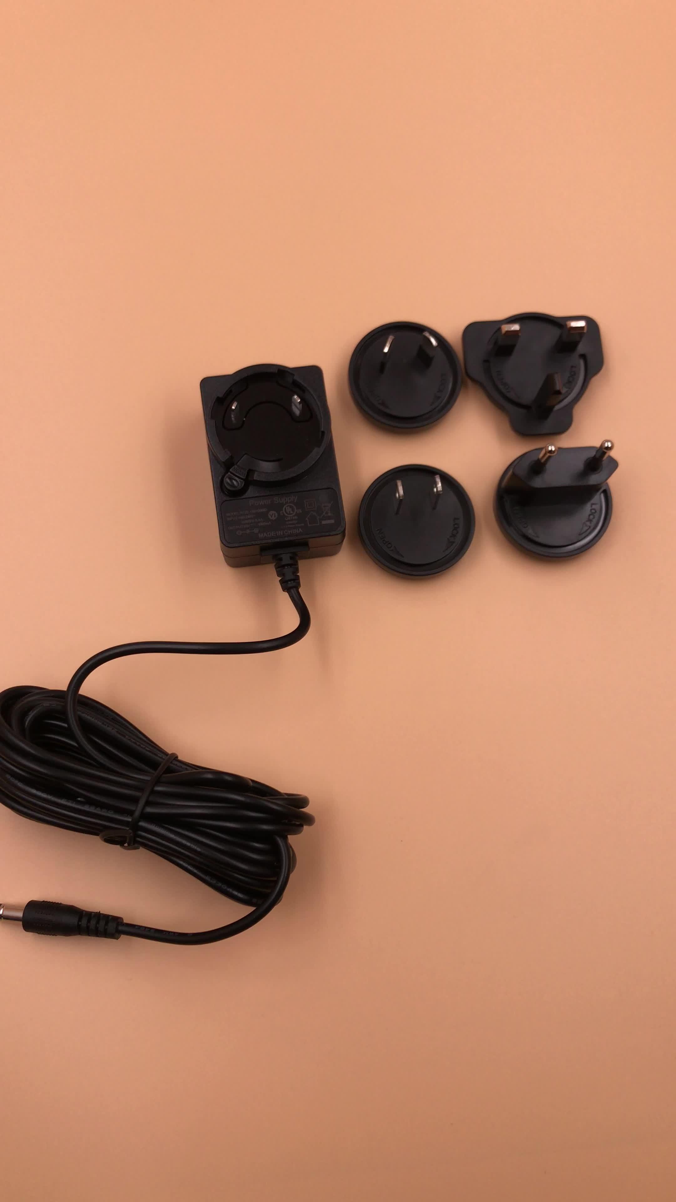 12 V 2A Destacável Adaptador de Alimentação para LED strip CCTV Camera DVR Portátil Rádio Do Motor Pé de Volta Do Pescoço e Ombro Massager unidade de disco Rígido