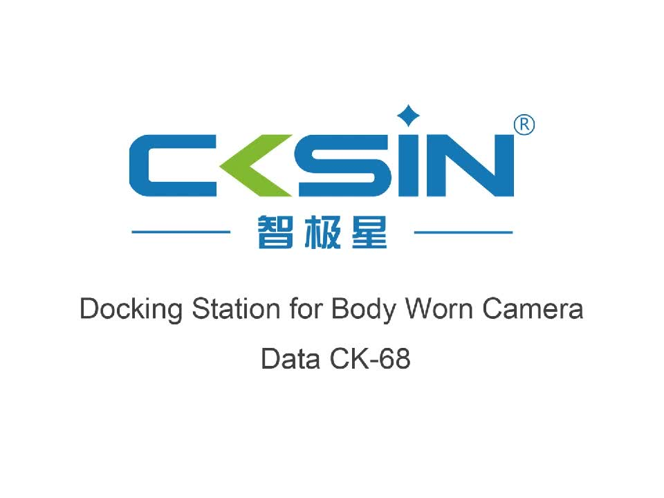 Fast download camera data and clear camera 8 ports docking station for body camera