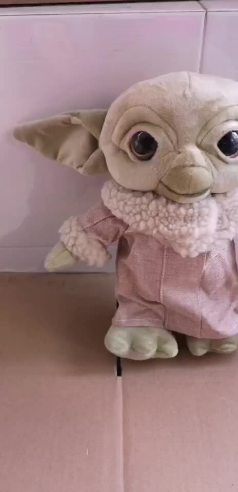 Dropshipping Baby Yoda plush toy Stuffed Soft yoda Doll Toys Cartoon Peluche