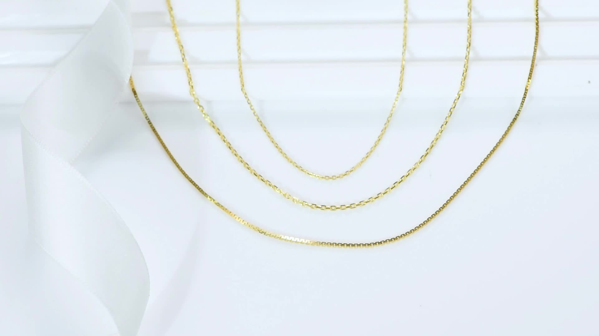 14K Solid Gold jewelry real yellow pure gold cross diamond cut chain necklace for woman