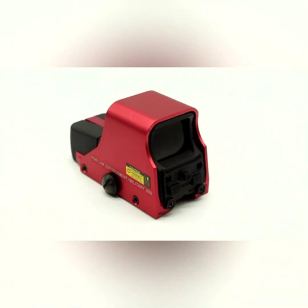 Mini Holographic Reflex Sight Red Green Dot Rifle Scope Tactical Light Adjustable Brightness Gun Sights Gun Parts