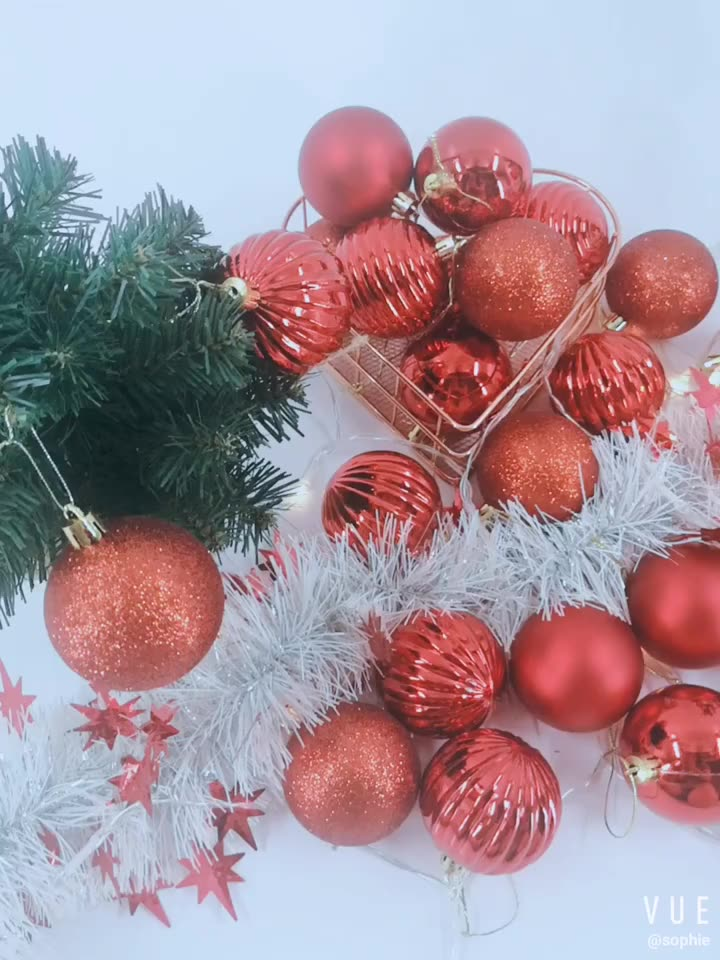 Hot selling Sparkly electroplated bright Christmas decoration Ball for ornaments