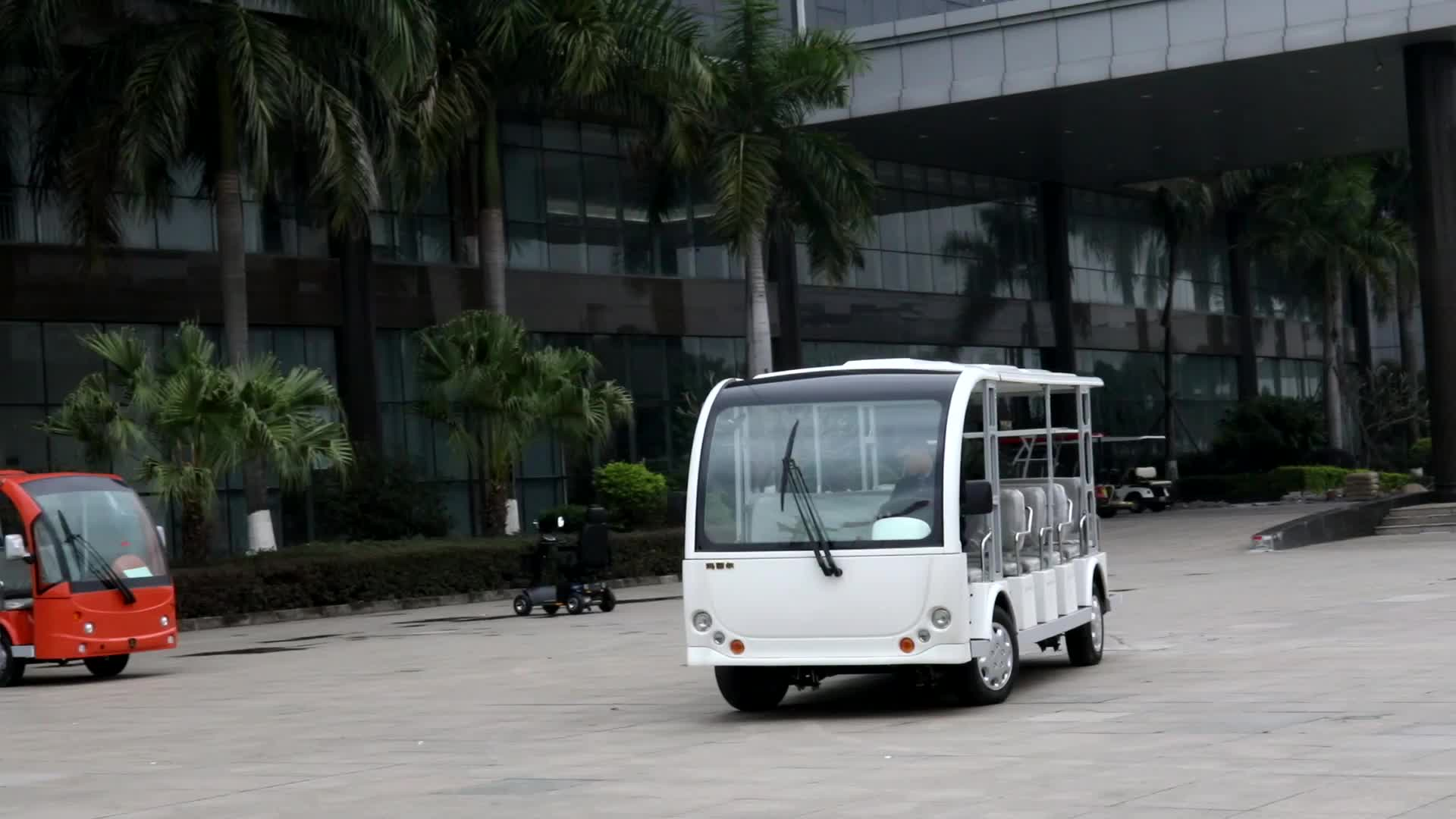 CE approved 23 Seats electric tourist bus with price factory offer DN-23(China)