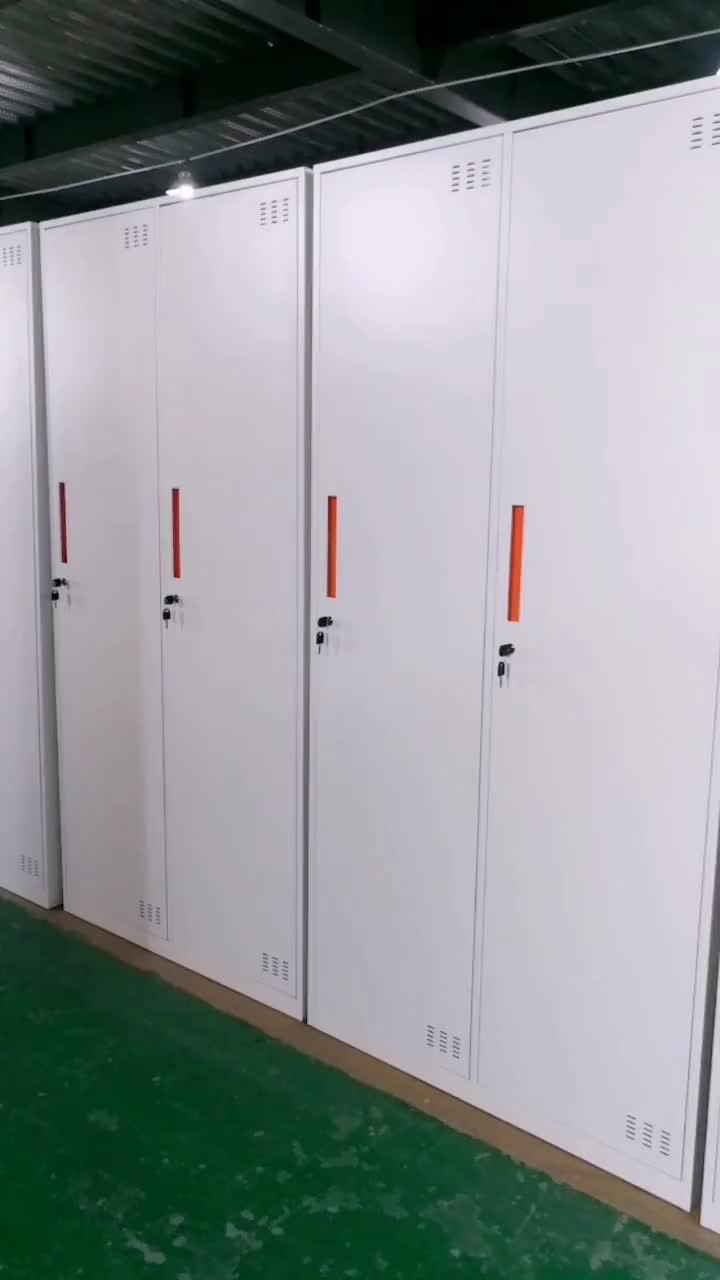 स्कूल छात्र स्टील 3 दरवाजा लॉकर बदलते कमरे के लिए 3 दरवाजा स्टील अलमारी के लॉकर