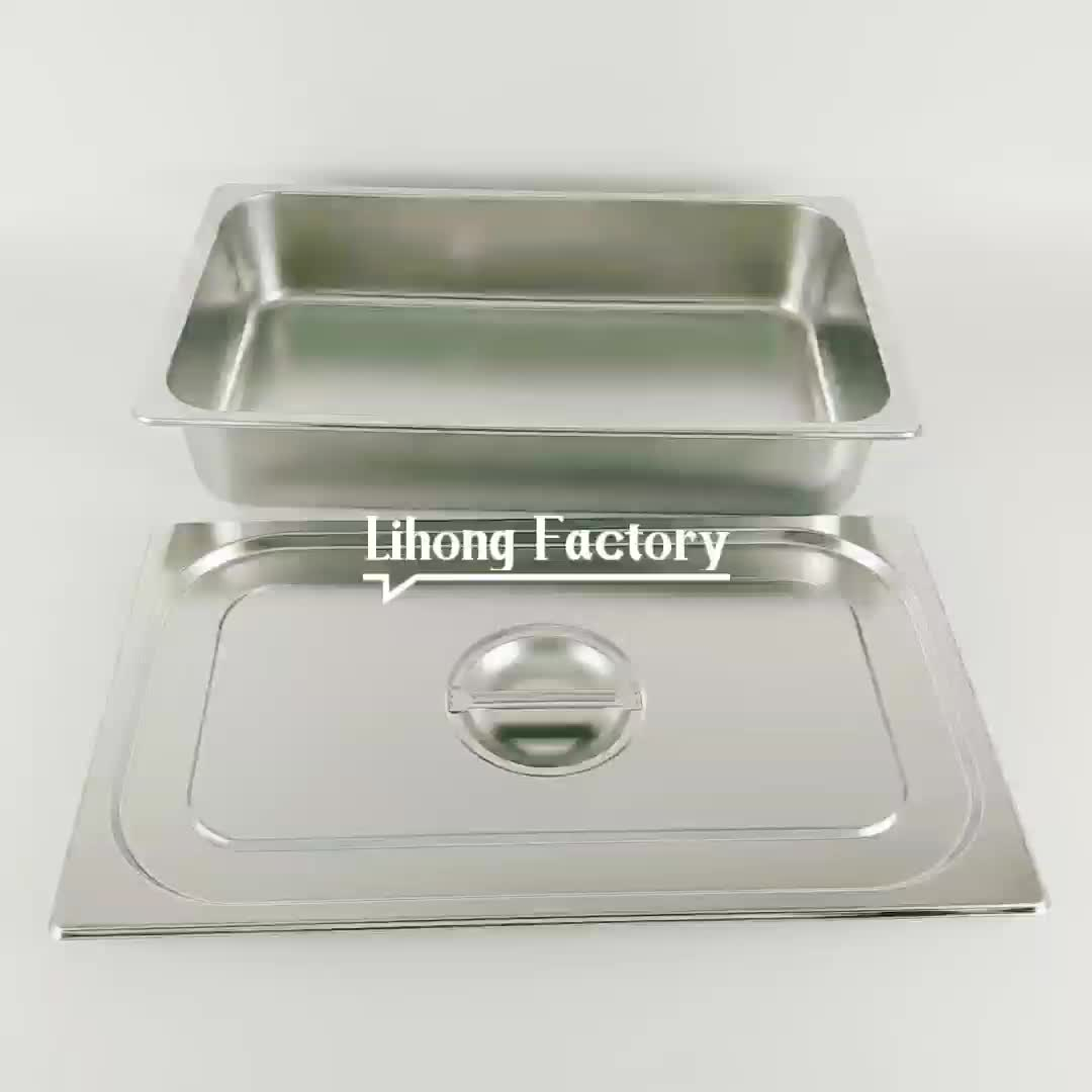 Hot sale 1/4  Stainless Steel Gastronorm Food Container GN Pan