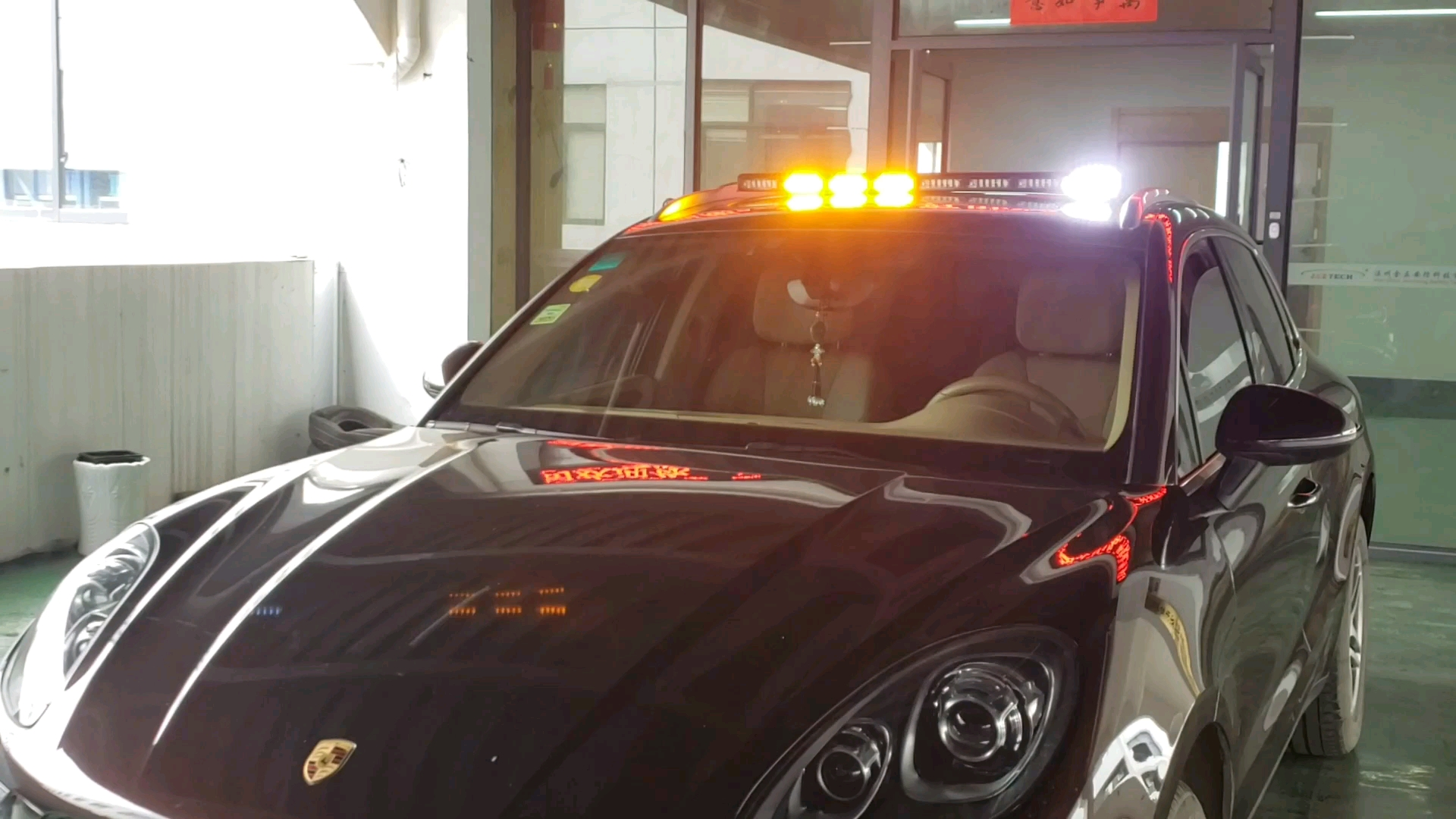 Clear lens customized traffic advisor and DC12V-DC12-24V Dash and visor lights