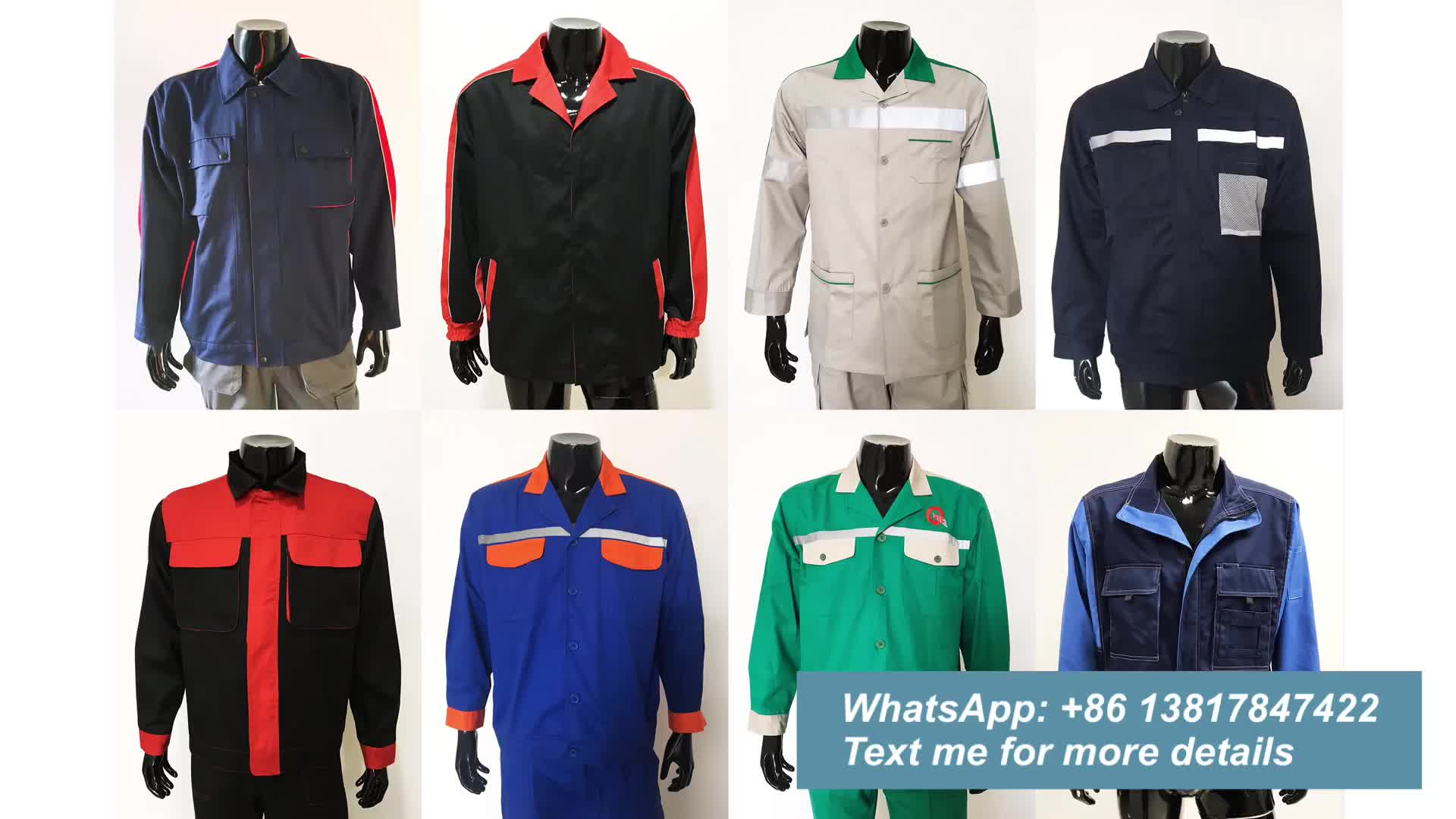 Custom-made Polyester Cotton Anti-Static Construction Work Clothes for Men