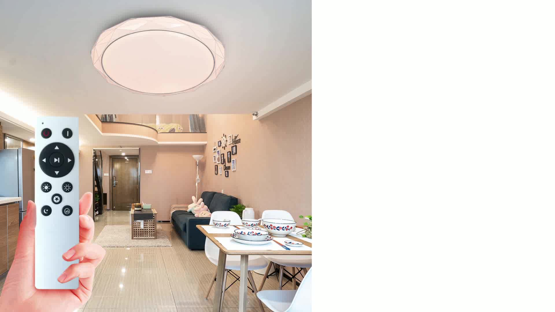 round shape light led ceiling 48W 72w dimming with remote control led ceiling lamp living room dining room ceilinglamp